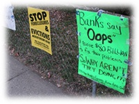 protest foreclosure banners